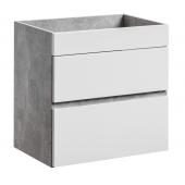Meuble sous vasque mural - 2 tiroirs - 60 x 39 x 59 cm - Atelier