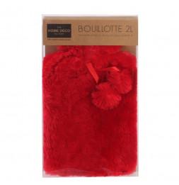 Bouillotte effet fourrure - 2 L - Rouge