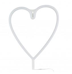 Lampe néon en forme de coeur
