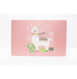 Set de table lama - L 43,5 x l 28,5 cm - Rose