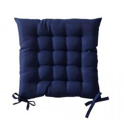 Galette de chaise matelassée 40 x 40 cm - Bleu foncé