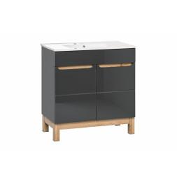 Meuble sous vasque - 80 x 45 x 85 cm - Bali Grey