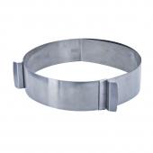 Cercle extensible - 15 à 30 cm - Inox