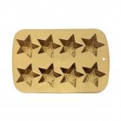 Moule à gâteau - 8 étoiles - Silicone - Doré