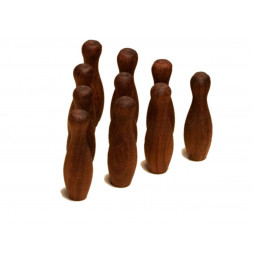 Set de 10 quilles pour Bowling Mango - Jeux en bois