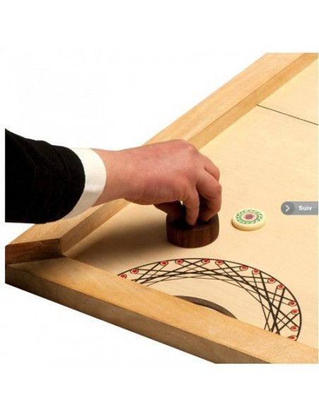 Shuffle-Puck Mango - 90 x 45 cm - Jeu en bois
