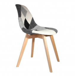 Chaise au design scandinave - Gris et blanc