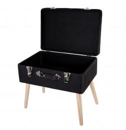 Banc avec coffre valise - Noir