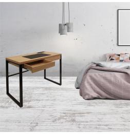 Bureau - 100 x 50,3 x 74 cm - Bois et métal noir