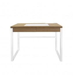Bureau - 100 x 50,3 x 74 cm - Bois et métal blanc