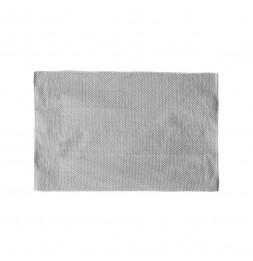 Grand tapis rectangulaire - 120 x 170 cm - Motifs losanges - Gris et blanc