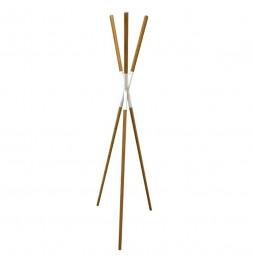 Porte manteaux en forme de tipi -  D 56 x H 172 cm - Bois de pin et métal - Blanc