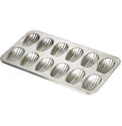 Moule 12 madeleines en fer blanc - Gobel - Plaque à patisserie