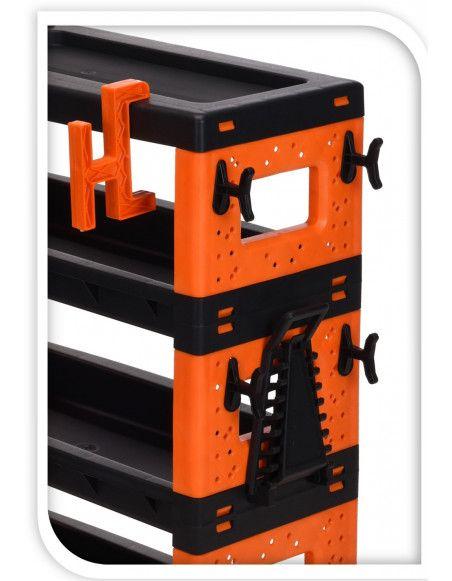 Chariot à roulettes - Boite à outils - 68 x 35 x 87,5 cm