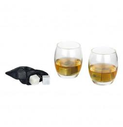 Coffret à whisky - 2 verres et 8 pierres