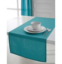 Chemin de table coton 50 x 150 cm - Turquoise - Linge de table