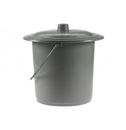 Petit seau - D 18.5 x H 20 cm - Gris