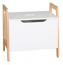 Coffre à jouets empilable - 49 x 36 x 48 cm - Blanc