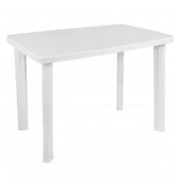 Table de jardin - 100 x 70 cm - Blanc