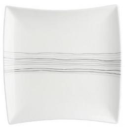 Assiette plate carrée - 29 cm x 29 cm - Porcelaine