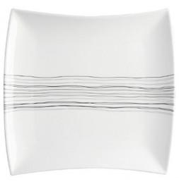 Assiette plate carrée - 26 cm x 26 cm - Porcelaine