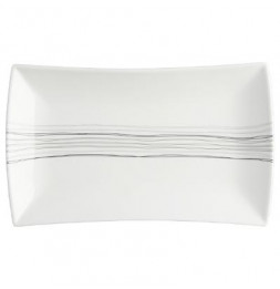 Assiette plate rectangle - 30,5 x 18,5 cm - Porcelaine