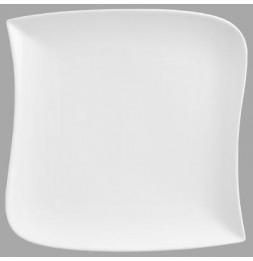 Assiette plate carrée design vague - 30 cm x 30 cm - Porcelaine