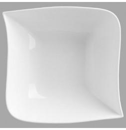 Saladier carré design vague - 24 x 24 cm - Porcelaine