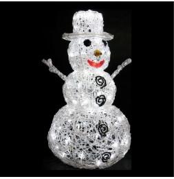 Bonhomme de neige lumineux 57 cm - 96 Leds - Décoration de Noël