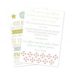 Set de 2 planches de stickers muraux - Règles d'enfant - 49 x 69 cm