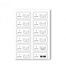Bons points à colorier - Sachet de 20 planches - 14,8 x 21 cm