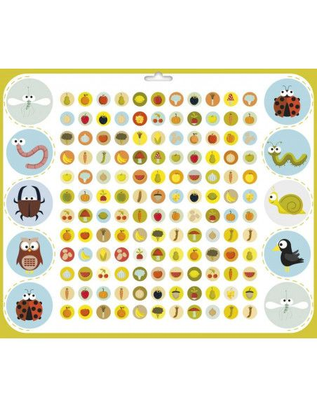 Maxi livre de stickers - Jardin - 804 stickers - 29 x 34 cm