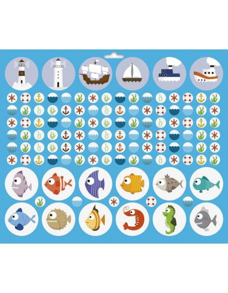 Maxi livre de stickers - Mer - 776 stickers - 29 x 34 cm