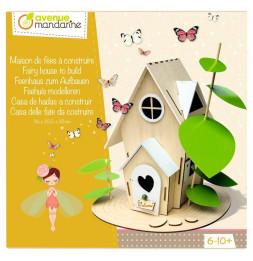 Boîte créative - Maison de fées à construire - 25 x 22 x 28 cm