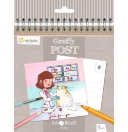 Carnet de cartes postales - Vétérinaire