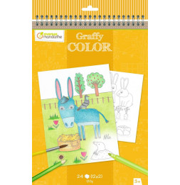 Carnet de coloriages - Ferme