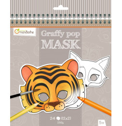 Masque à colorier - Animaux