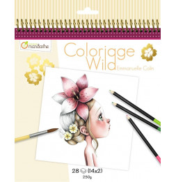 Cahier de coloriage - 28 dessins - Wild