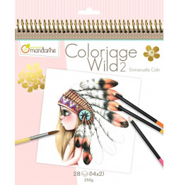 Cahier de coloriage - 28 dessins - Wild 2