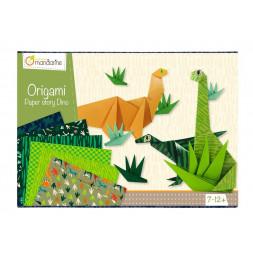 Boîte créative - Origami dinosaures - 10 modèles