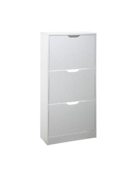 Meuble à chaussures 3 tiroirs - L 60 x P 24 x H 115 cm - Blanc