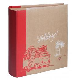 Album photo à pochettes 300 mémos Kraffty 2 - L 25 x l 21,5 cm - Rouge