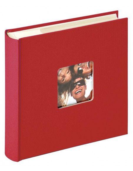 Album photo à pochettes 200 mémos Fun - L 24 x l 22 cm - Rouge