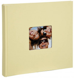 Album photo à feuillets cristal Fun - 100 pages - L 30 x l 30 cm - Beige