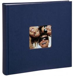 Album photo à feuillets cristal Fun - 100 pages - L 30 x l 30 cm - Bleu