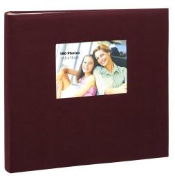 Album photo à feuillets adhésifs Square - 60 pages - L 33 x l 34 cm - Rouge foncé