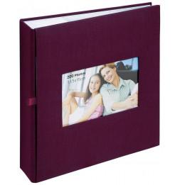 Album photo à pochettes 200 mémos Square - L 23,5 x l 25 cm - Rouge foncé