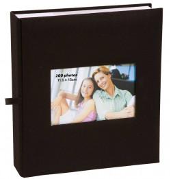 Album photo à pochettes 200 mémos Square - L 23,5 x l 25 cm - Noir