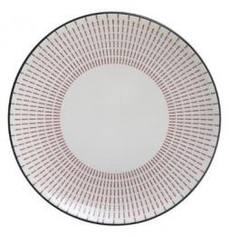 Assiette plate Lunis - D 27 cm - Rouge