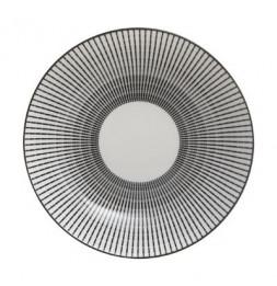 Assiette creuse Lunis - D 20,5 cm - Noir